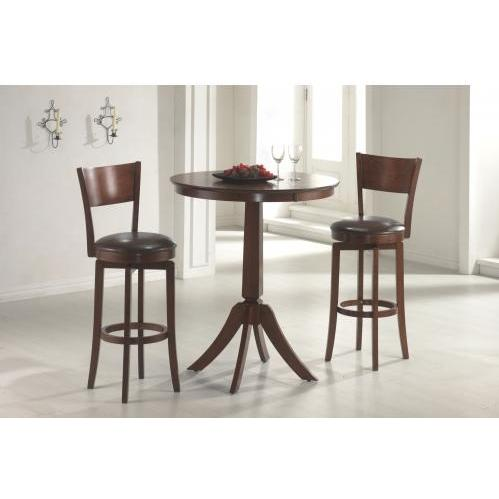Hillsdale Plainview 36 Inch Bar Height Bistro Table - Brown - 4166-835