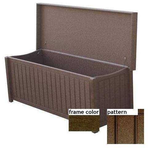 Eagle One Recycled Plastic Sydney Big Deck Box New England Pattern - Brown