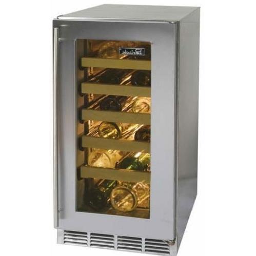 Perlick HP15WS-3L 27 Bottle Freestanding Wine Cooler - Glass Door / Stainless Steel Trim