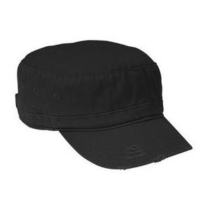 District Threads Distressed Military Hat - Black