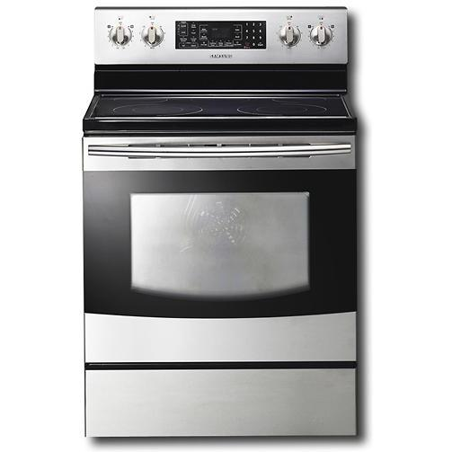 Samsung FTQ353IWUX 5.7 Cu Ft. 3-Fan Convection Electric Range W/ Warmer Drawer - Stainless Steel
