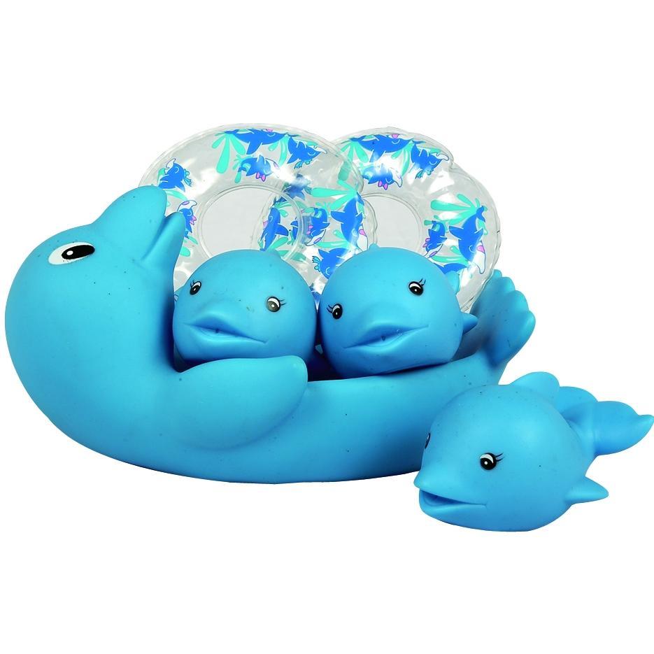 Bath Toy Buddy Dophin: Elegant Baby Lazy Tubbies Bath Toy Set