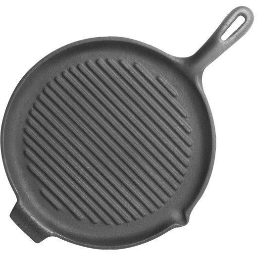 Universal Round Seasoned Cast Iron Grill Pan - PS184