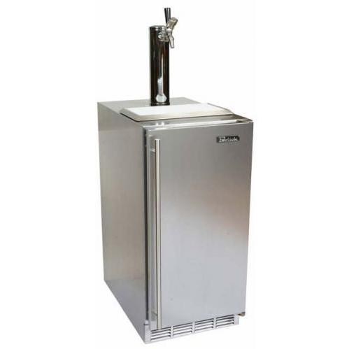 Perlick HP15TS-1L 3.2 Cu. Ft. Capacity Left-Hinge Kegerator - Stainless Steel
