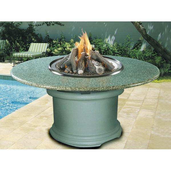 California Outdoor Concepts Del Mar Dining Height Fire Pit Table With Pebble Granite Top And Adobe Base