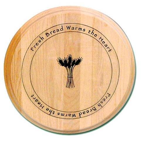 Round Branded Board With Fresh Bread Design