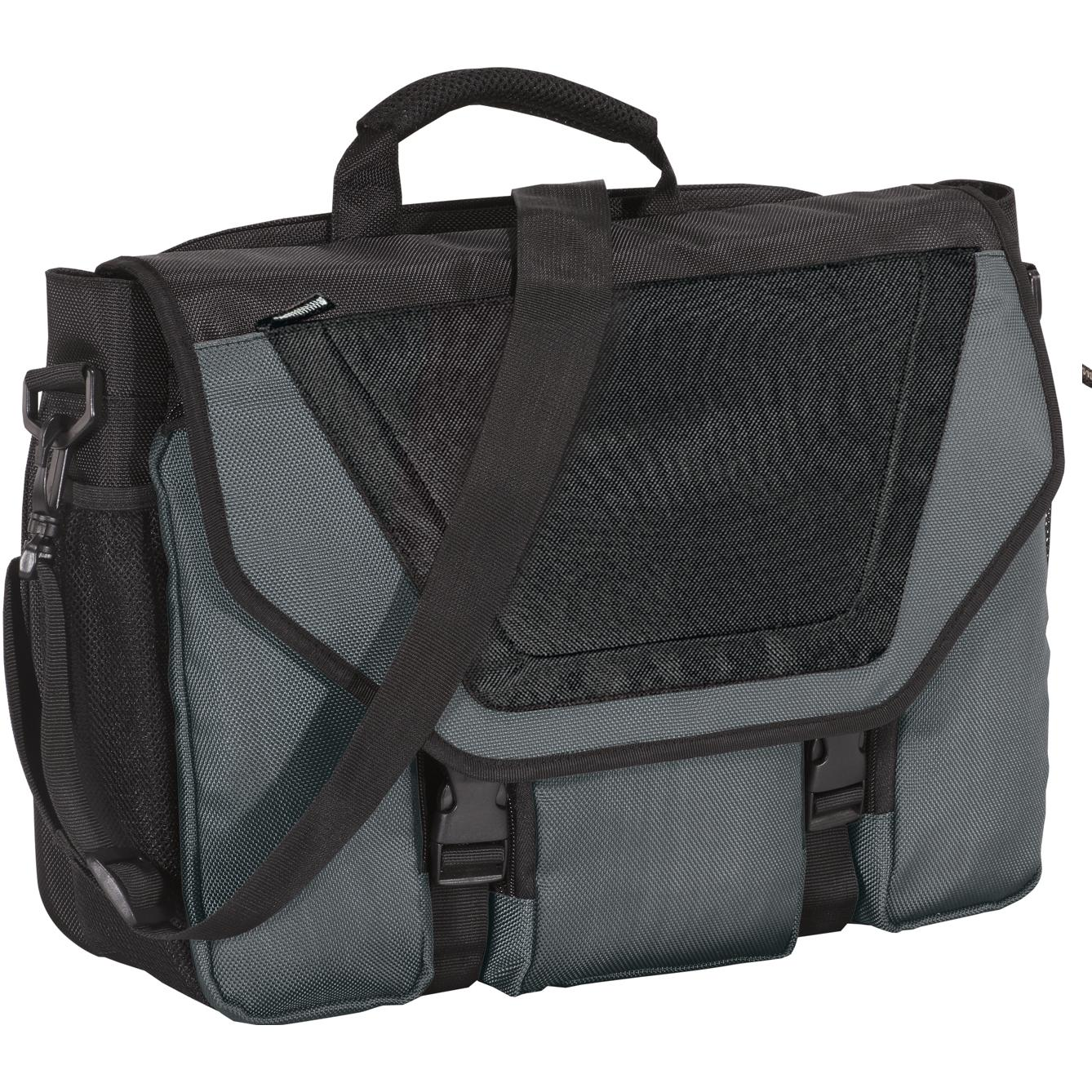 Port Authority Messenger Briefcase - Dark Slate/Black