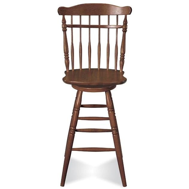 International Concepts Country Colonial Swivel Stool - Country Spindleback - 30 Inch Seat Height - Soft Cherry - A100-94