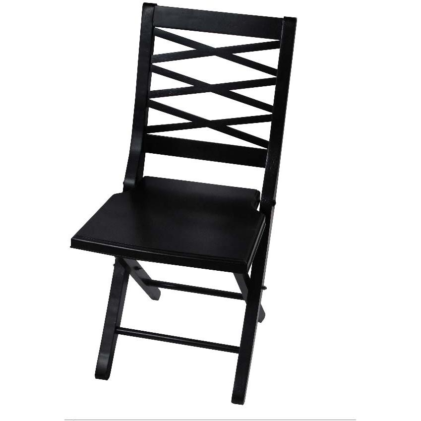 Hillsdale Eastside Black Honey Folding Chair - 63702