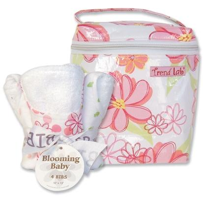 Trend Lab Bottle Bag And Bib Set - Hula Baby