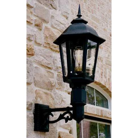 Gaslite America GL1200 Cast Aluminum Manual Ignition Propane Gas Light With Open Flame Burner And Standard Wall Mount