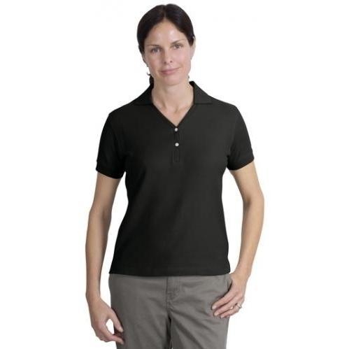 Port Authority Ladies 100 Percent Pima Cotton Polo Shirt 4XL - Black