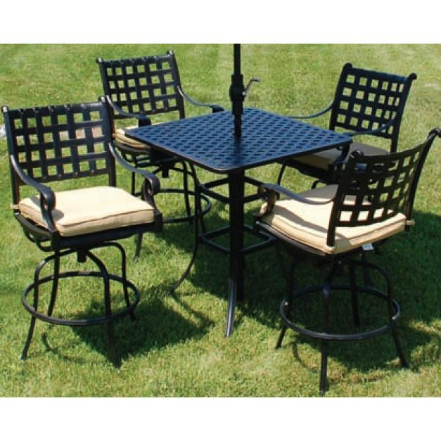 Alfresco Home Chateau 36 Inch Square Bar Set - Antique Topaz