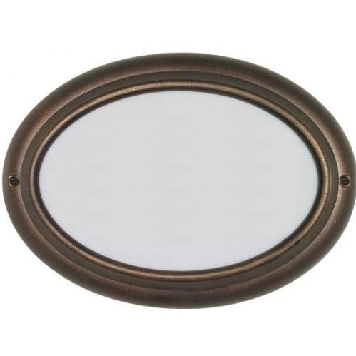 Edgewood French Bronze Oval Lighted Address Plaque