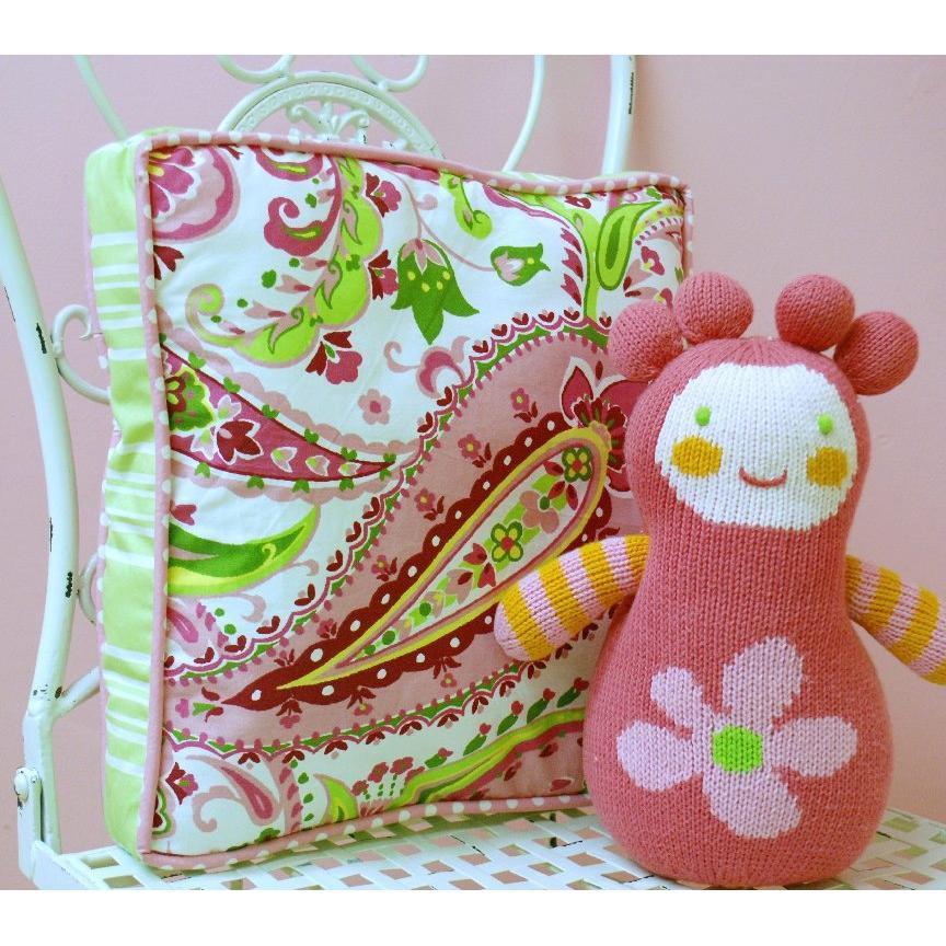 My Baby Sam Throw Pillow - Pink Paisley Splash