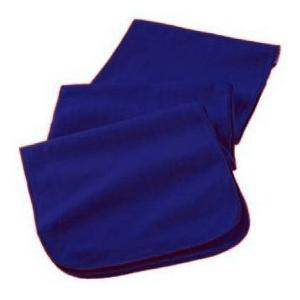 Augusta Full Length Athletic Fleece Scarf - Navy