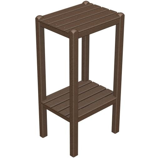 Poly-Wood Recycled Plastic Wood Two Shelf Bar End Table