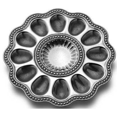 Wilton Armetale Flutes & Pearls Egg Tray - 272550