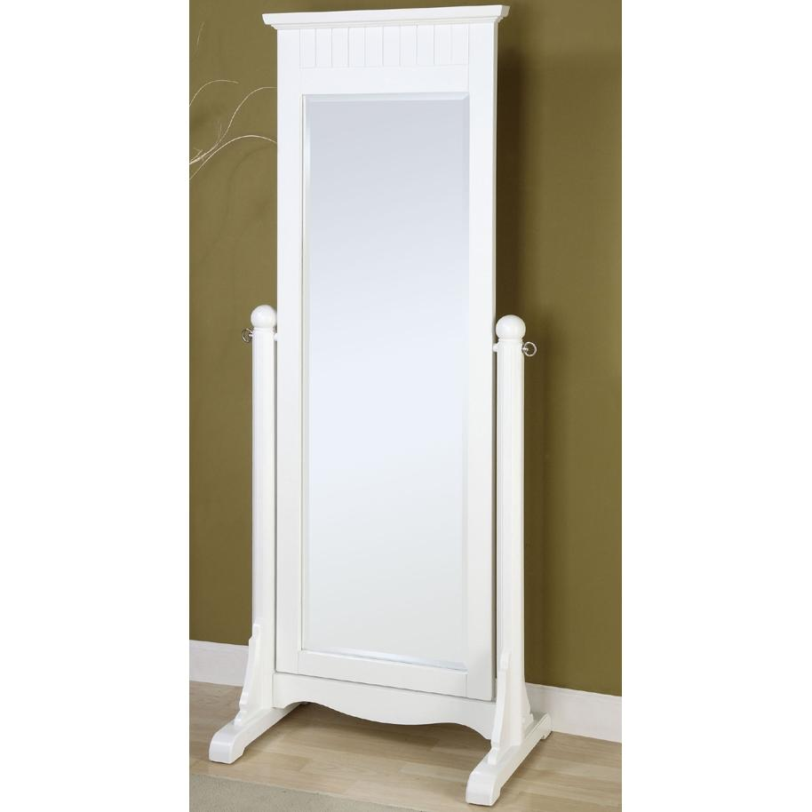 Powell Furniture - Color Story Pure White Cheval Mirror - 270-230