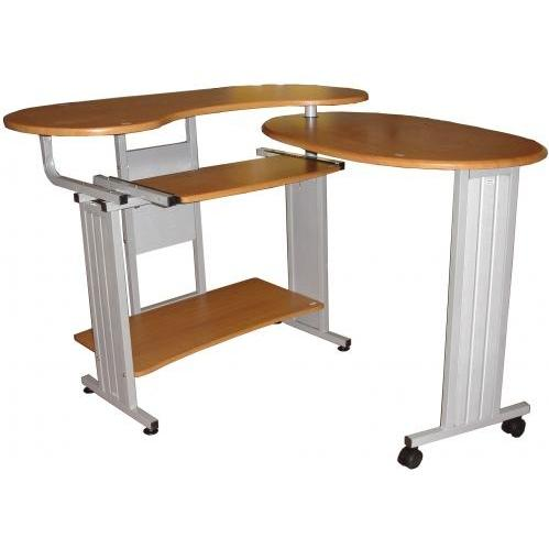 International Caravan Fold Out L-Shaped Desk (3 Level) Oak - L-128-OK