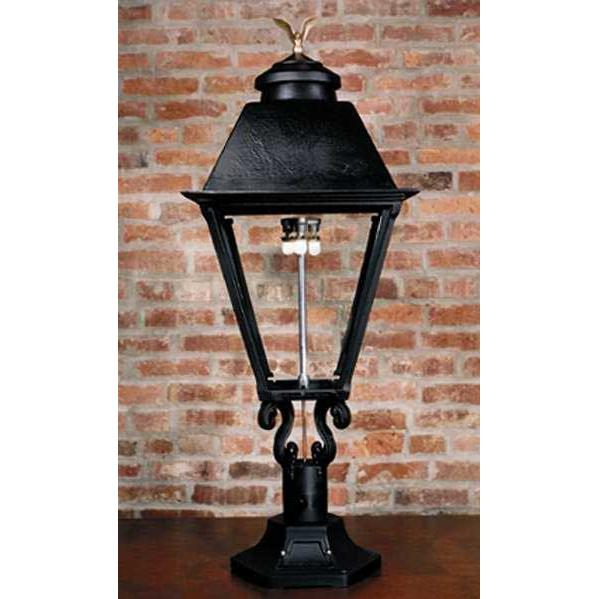 Gaslite America GL3000 Cast Aluminum Manual Ignition Natural Gas Light With Dual Mantle Burner And Pedestal Mount