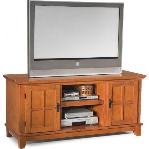 Home Styles Arts And Crafts Entertainment Console - Cottage Oak - 5180-12