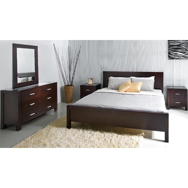 Abbyson Living Porter 5PC Cal-King Bedroom Set Cappucino HM-5000-CK5