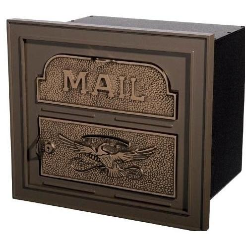 Classic Series High Security Locking Column Mailbox Faceplate - Bronze W/ Antique Bronze