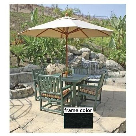 Eagle One Recycled Plastic Carmel Patio Dining Set - Black
