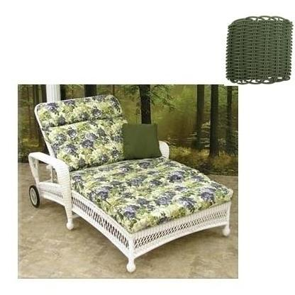 North Cape Montego Wicker Double Adjustable Chaise Lounge - Sea Grass