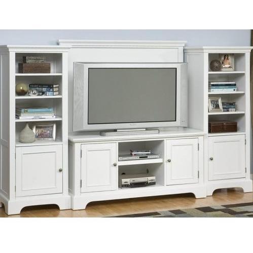 Home Styles Naples 4 Piece Entertainment Unit - White - 5530-44