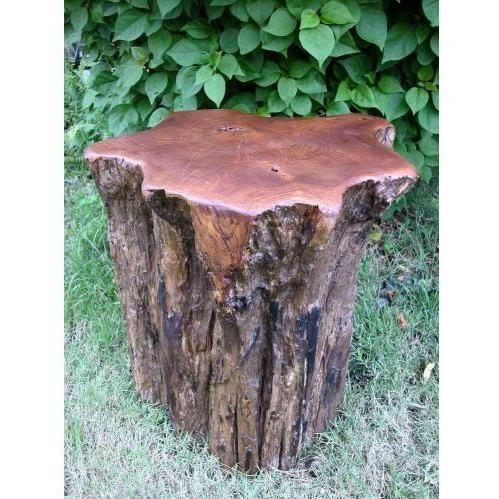 Groovy Stuff Teak Wood Campfire Stump Seat - TF-509