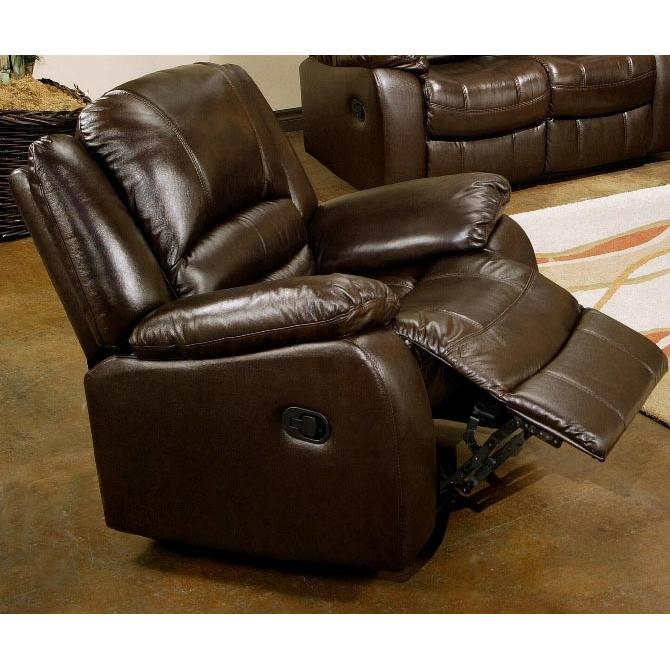 Abbyson Living Brownstone Reclining Leather Armchair - CH-8801-BRN-1