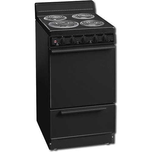 Premier EAK100B 20 Inch Electric Range With Storage Drawer And 4 Inch Back-guard - Black