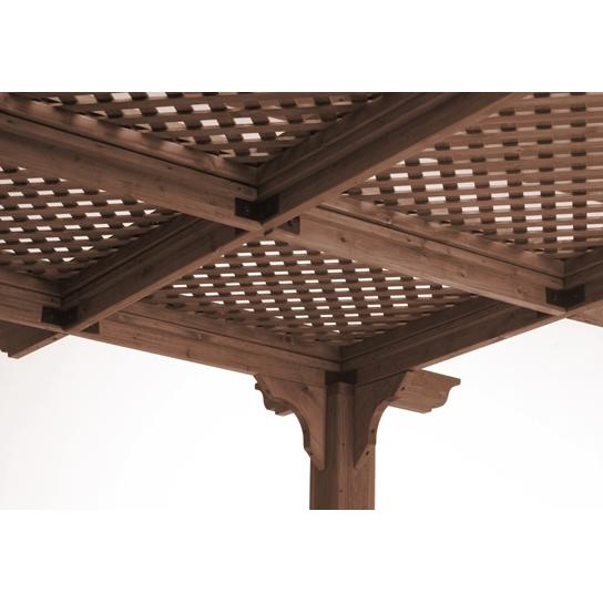 Outdoor GreatRoom Company Lattice Roof For Sierra 10 X 10 Pergola - Mocha Finish