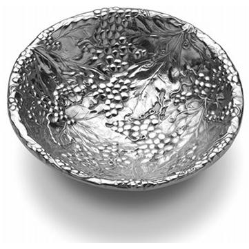 Wilton Armetale Grapes Large Round Bowl/Polished/bx - 353707