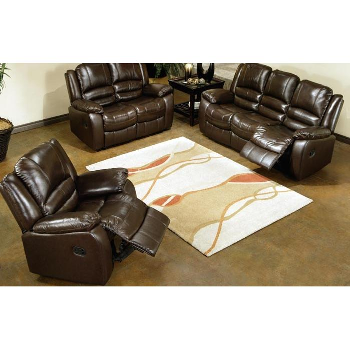Abbyson Living Brownstone Reclining Leather Sofa And Chair Set - CH-8801-BRN-3/1
