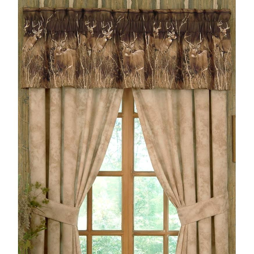 Blue Ridge Trading Window Curtain - Deer Meadow