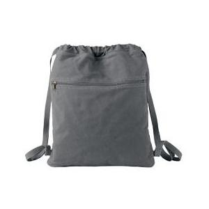 Authentic Pigment Pigment-Dyed Canvas Cinch Sack - Smoke