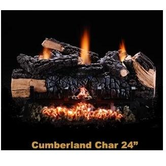 Hargrove Gas Logs 24 Inch Cumberland Vent-Free Natural Gas Log Set & Manual Safety Pilot