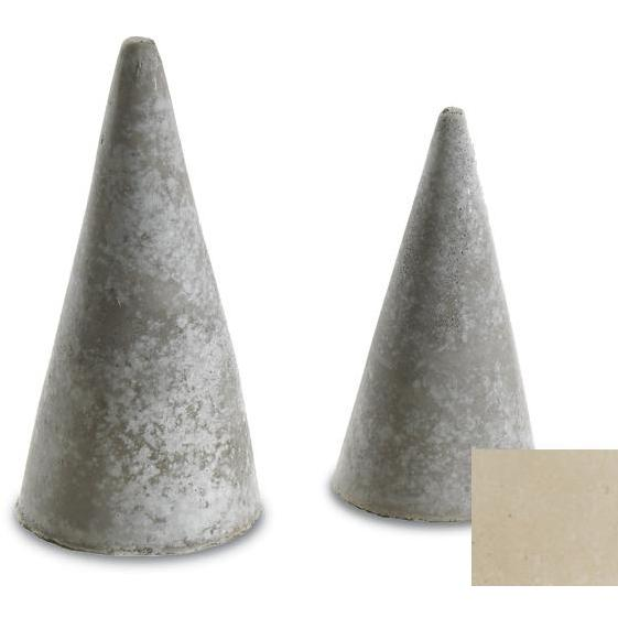 Peterson Gas Logs Decorative Geo Shapes Ivory Cone Set - Set Of 4