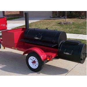 Horizon Smokers 20 Inch BBQ Trailer Smoker Grill