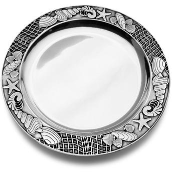Wilton Armetale Sea Shore Large Round Tray/Polished/bx - 289004
