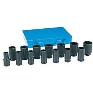 Grey Pneumatic 14 Piece 3/4 Inch Drive Deep Length Fractional Impact Socket Set