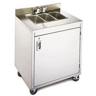 Crown Verity Portable Stainless Steel Triple Sink