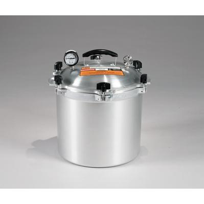 Chefs Design Cast Aluminum All-American Cooker/Canner With Two Racks - 21.5 Qt. Liquid Capacity