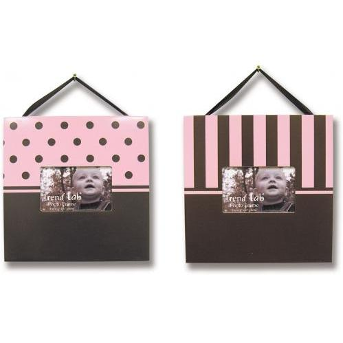Trend Lab 2-Piece Photo Frame Set - Brown/Pink