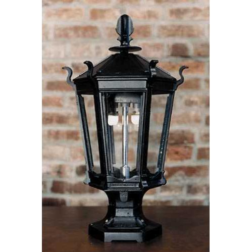 Gaslite America GL900 Cast Aluminum Manual Ignition Natural Gas Light With Dual Mantle Burner And Pedestal Mount