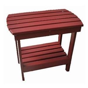 International Caravan Acacia Wood Side Table - Red - OL-005-RD