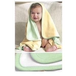 Bella Baby 1x1 Rib Reversible Blanket - Pale Green/White